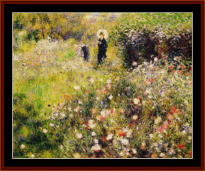 Summer Landscape – Auguste Renoir cross stitch pattern by Kathleen George at Cross Stitch Collectibles   Crafting   Cross-Stitch   Other