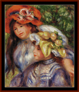 Two Girls – Auguste Renoir cross stitch pattern by Kathleen George at Cross Stitch Collectibles | Crafting | Cross-Stitch | Other