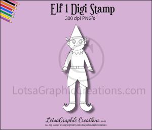 elf 1 digi stamp