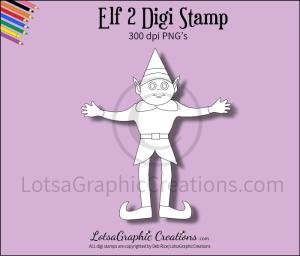 elf 2 digi stamp