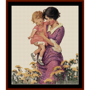 Among the Flowers – Jesse Willcox Smith cross stitch pattern by Cross Stitch Collectibles   Crafting   Cross-Stitch   Other