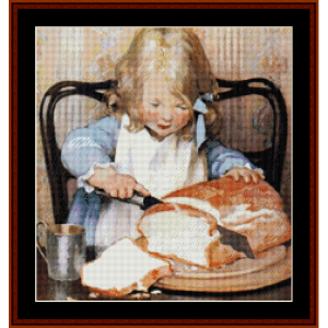 Lunchtime – Jesse Willcox Smith cross stitch pattern by Cross Stitch Collectibles | Crafting | Cross-Stitch | Other