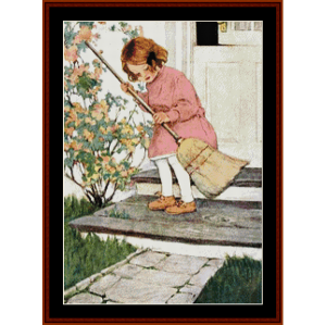 Sweeping Up – Jesse Willcox Smith cross stitch pattern by Cross Stitch Collectibles   Crafting   Cross-Stitch   Other