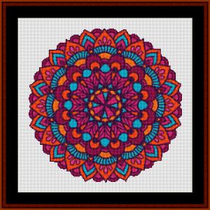 Mandala 124 cross stitch pattern by Cross Stitch Collectibles   Crafting   Cross-Stitch   Other