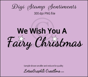 we wish you a fairy christmas sentiment