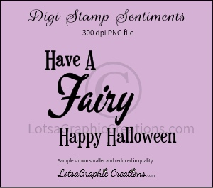 have a fairy happy halloween sentiment