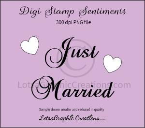 just married sentiment