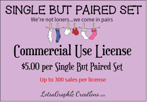 single but paired set commercial use license