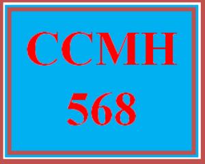 ccmh 568 wk 4 discussion - cpce preparation