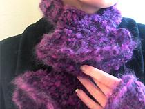 ruffled scarflet and mitts set