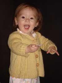 #66 beautiful cabled baby jacket pdf knitting pattern from sweaterbabe.com