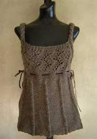 #64 romantic cable and lace vest pdf knitting pattern from sweaterbabe.com