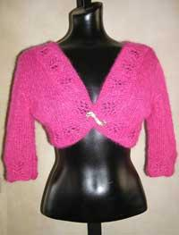 #36 mohair lace bolero pdf pattern from sweaterbabe.com