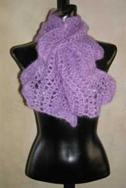 #34 wavy edged crochet scarf pdf pattern from sweaterbabe.com