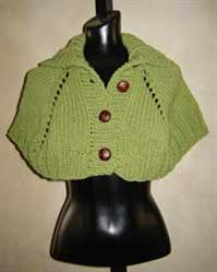 #53 turtleneck capelet pdf knitting pattern from sweaterbabe.com
