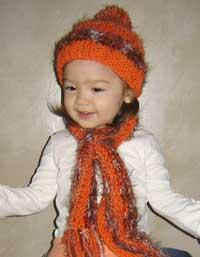 #54 sweet baby hat and scarf pdf pattern from sweaterbabe.com