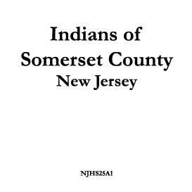 indians of somerset county