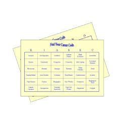 holland codes bingo cards for adults