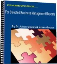 frameworks for selected business management reports