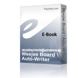 weejee board / auto-writer instruction booklet