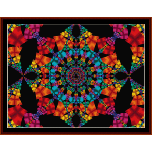 fractal 192 cross stitch pattern by cross stitch collectibles