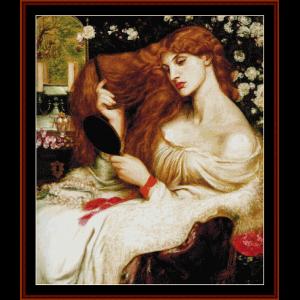 lady lilith - dante rossetti cross stitch pattern by cross stitch collectibles