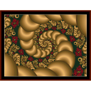 Fractal 101 cross stitch pattern by Cross Stitch Collectibles | Crafting | Cross-Stitch | Wall Hangings