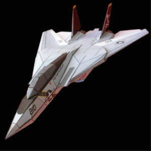 Paper F-14 Jolly Rogers | Crafting | Paper Crafting | Paper Models