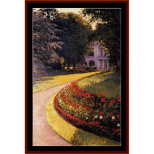 Park at Yerres - Caillebotte cross stitch pattern by Cross Stitch Collectibles | Crafting | Cross-Stitch | Wall Hangings