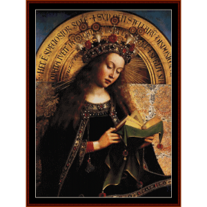 virgin mary - van eyk cross stitch pattern by cross stitch collectibles