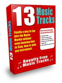 royalty free music 13 tracks with resale rights