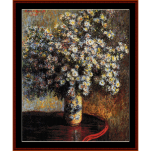 Asters - Monet cross stitch pattern by Cross Stitch Collectibles | Crafting | Cross-Stitch | Other