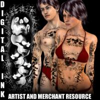 digital ink - skulls tattoo resource