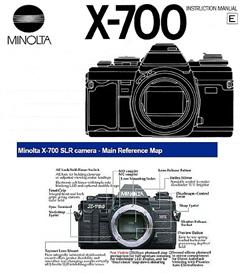 minolta x-700 instruction manual & quick start reference guide