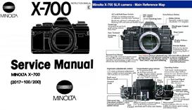 minolta x-700  service manual-instruction manual & quick start guide