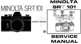 minolta sr-t101 service manual & instruction manual