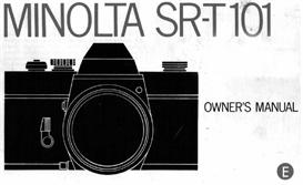 minolta sr-t101 35mm camera instruction manual