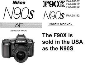 nikon n90s f90 x  repair manual - instruction manual & more