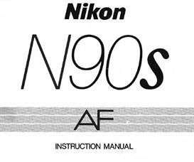 nikon n90s f90 x  instruction manual