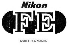 nikon fe instruction manual