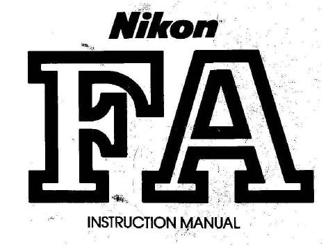 nikon fa instruction manual other files photography and images rh store payloadz com nikon fa camera instruction manual Nikon FA Camera Review