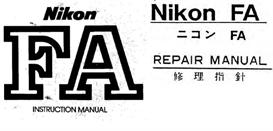 nikon fa repair manual & instruction manuals
