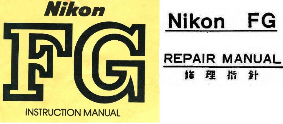 nikon fg repair manual instruction manuals other files rh store payloadz com Nikon FG Tutorial Nikon FG Repair Manual