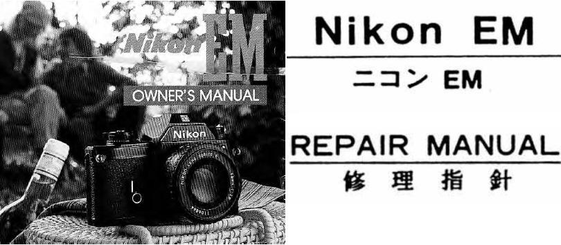 nikon em repair manual instruction manuals other files rh store payloadz com nikon em user manual Nikon Em Camera Manual
