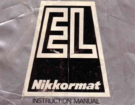 nikon nikkormat el instruction manual