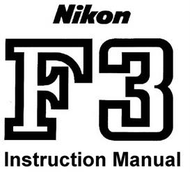 nikon f3 instruction manual