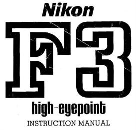 nikon f3 hp (high eyepoint) instruction manual
