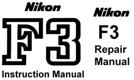 Nikon F3  Repair Manual & Instruction Manual | Other Files | Photography and Images
