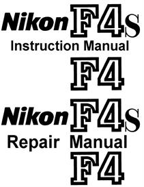 Nikon F4 F4s Repair Manual & Instruction Manual | Other Files | Photography and Images