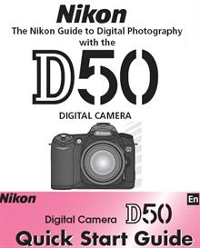 nikon d50 instruction manual & quick start guide